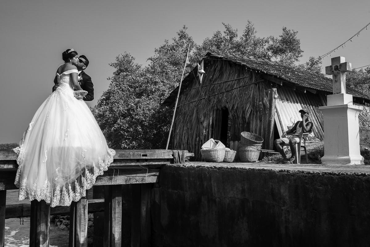 Photooneil Photography - At the bridge Goa wedding Photographers